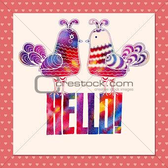 """Card """"Hello"""""""