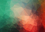 Abstract Triangle Multicolored Background for your web design