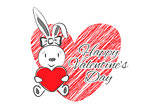 Femail Rabbit with Red Heart