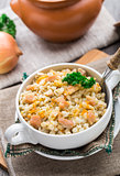 Barley porridge with pork