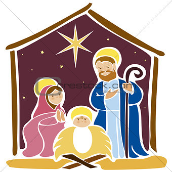 Baby Jesus in a manger 5