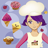 manga girl chef