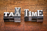 tax time in metal type