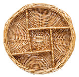 empty wicker tray