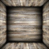 weathered planks on interior room backdrop