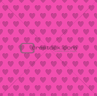 Tileable valentine's day heart patterned background
