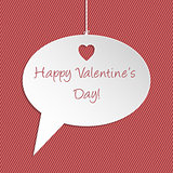 Valentine speech bubble greeting card