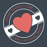 Happy Valentine's Day stamp design