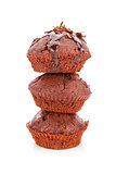 Muffin tower isolated.