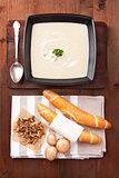 Mushroom cream soup.