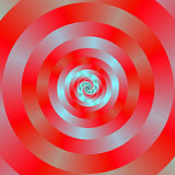 Red and blue Circular Spiral