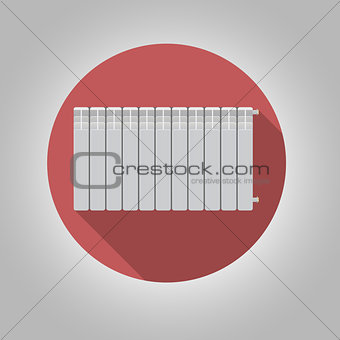 Flat vector icon for heating radiator
