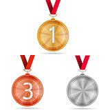 Vector illustration of winner medals