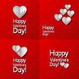 Set of Valentines day greeting cards