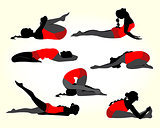 Yoga women silhouette