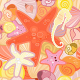 Starfish  background in crustacean