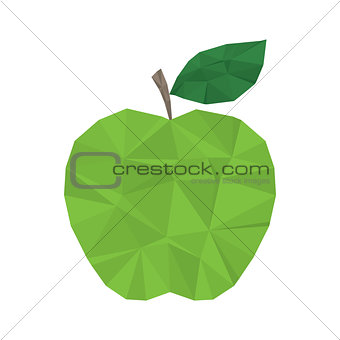 Green apple clean and modern minimal design