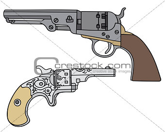 Classic Wild West revolvers