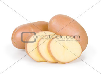 potato on white background