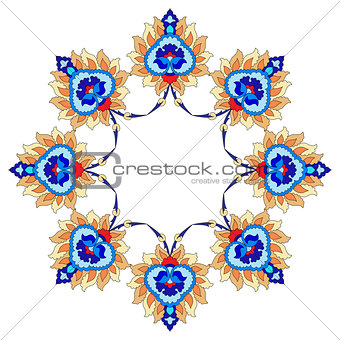 artistic ottoman pattern series fourty nine
