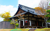 traditional wooden house, Japan.