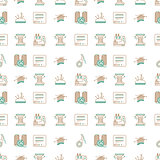 Bicolor line design vector background for sewing or handmade