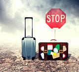 Suitcase in Desert