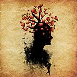 Tree of hearts on head