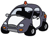 Funny police car