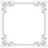 Multilayer vector violet blue elegant frame