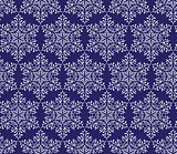 snowflakes on a dark blue background. seamless pattern