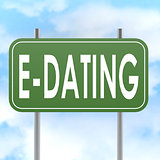 E dating road sign