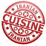 Iranian cuisine stamp