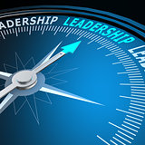 Leadership word on compass