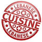 Lebanese cuisine stamp