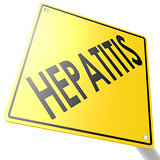 Road sign with hepatitis