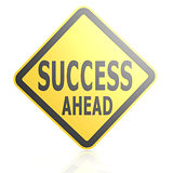 Success ahead road sign