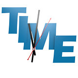 Time word with clock