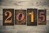2015 Wood Letterpress Concept