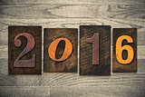 2016 Wood Letterpress Concept