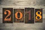 2018 Wood Letterpress Concept