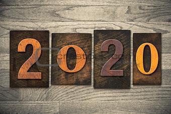 2020 Wood Letterpress Concept