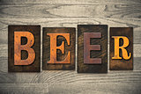 Beer Concept Wooden Letterpress Type