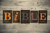 Bible Concept Wooden Letterpress Type