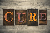 Cure Concept Wooden Letterpress Type