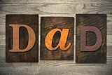 Dad Concept Wooden Letterpress Type