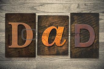 Dad Concept Wooden Letterpress Type