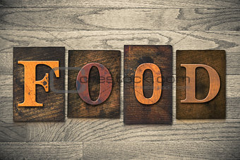 Food Concept Wooden Letterpress Type