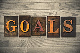 GOALS Concept Wooden Letterpress Type