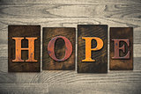 Hope Concept Wooden Letterpress Type